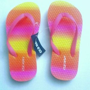 Old Navy Kid girl  Multicolored flip flop Size 11